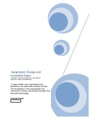 Change and Innovation Paper