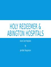 Holy Redeemer and Abington Hospitals.pptx