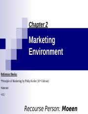 Marketing Environment chap 2.ppt