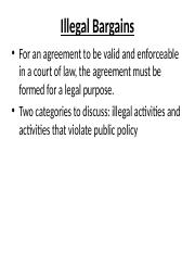 Illegal Bargains(1) (1).ppt