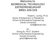 Biomed_Entrepreneurship_Lecture_1_-_September_9.2009