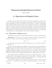 Lectures Notes (15) - Numerical Analysis Lecture Notes Peter
