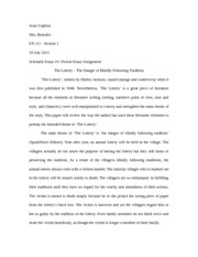 fiction essay thesis and outline instructions
