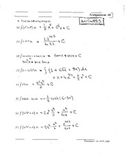 MATH 121 Assignment 28 Solutions