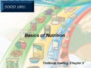 4.  Basics of Nutrition (with solutions)