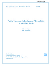 Transport expenditure mumbai 2007