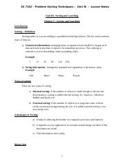 Unit III - Chapter 5 and 6- Sorting and searching.doc