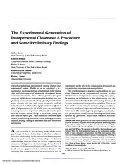 The experimental generation of interpersonal closeness - Copy
