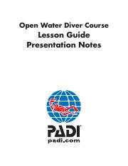 Open Water Lesson Guide and Presentation Notes for Instructors.pdf
