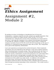 Group I Ethics Assignment