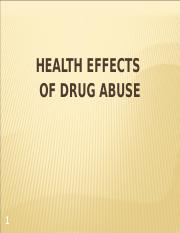 HEALTH EFFECTS OF DRUGS