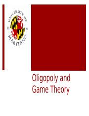 Game theory and oligopoly Blended Learning Lecture Part 1 and 2 combined canvas.pptx