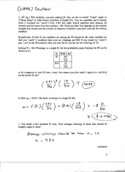 Solutions to Exam 2, White Version, Ma381, F05