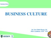 Business Culture 2014 - Hoang TM - Chapter 1