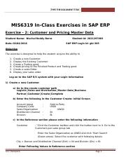 SAP Exercise 2 - Customer and Pricing Master Data.docx