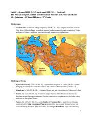 Unit 2-1-The Persian Empire and the Mediterranean Societies of Greece and Rome.docx