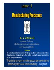 1.3 Manufacturing Processes
