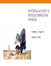 LEC 11 - Musculoskeletal Fitness - Part II - Flexibility - 10.4.16