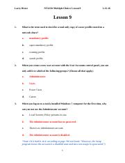 NT1230_Multiple Choice_Lesson 9