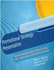 Promotional Strategy Presentation Draft 2 Learning Team A Wk 5