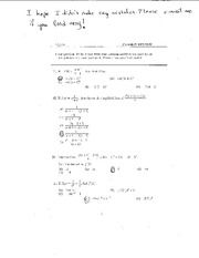 Exam 2 Review on Elementary Calculus