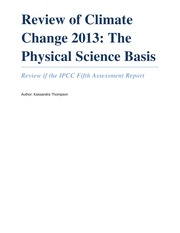 Review of Climate Change 2013