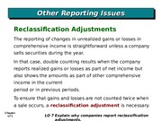 Reclassification Adjustment