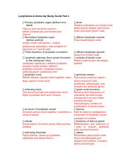 Study Guide 2 Lymphatics and Immunity.docx