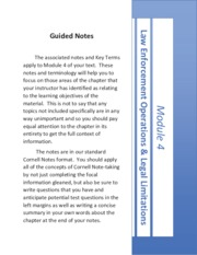 Module 4 - Workbook Pages & Key Terms
