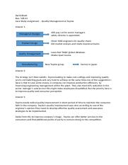 Operations management assignment toyota case.docx