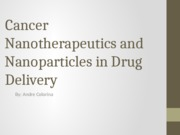 Nanoparticles in Drug Delivery.pptx