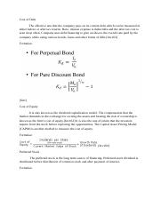 Cost of Debt equity and PS.docx