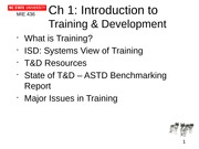 Ch 1 Introduction to Training and Development