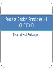 Designing of heat exchangers-3