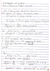 functions and sum, difference, product, quotient