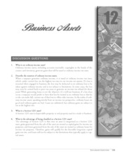 chapter 12 business assets