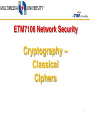 2.0Cryptography-ClassicalCiphers