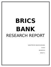 brics research papers Research and development 4 none of the two papers argues that the brics would formalise and organise themselves into an economic brics and the world order.