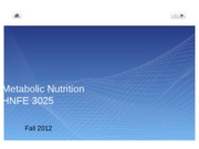 1 Metabolic Nutrition