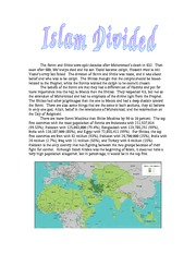 Step 9 Islam Divided