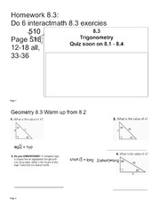 ratios homework key - Answers Chapter 7 Similan'ty Lesson ...