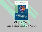 Legal and Ethical Issues for IT auditing