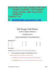 Solution Manual For Web Design Introductory 5th Edition By Campbell Ch02 Web Design Fifth Edition Instructors Manual 1 Web Design Chapter 2 Web Course Hero