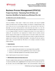 CFI1C11 Business Process Management  - Project AY1415 Package v1.0