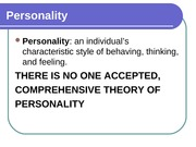 Chapter 11 - Personality