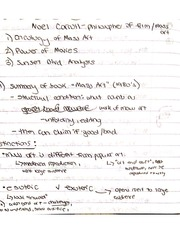 Noel Carroll Class Notes