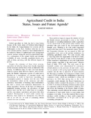 Agricultural_Credit_in_India_Status_Issu