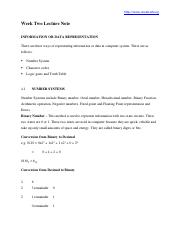 1538_CSC 201 Week Two Lecture Note