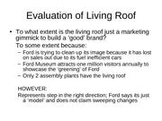 Evaluation of Living Roof