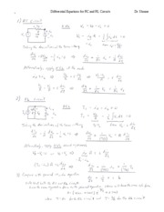 NOTES- RC & RL Circuits Differential Equations